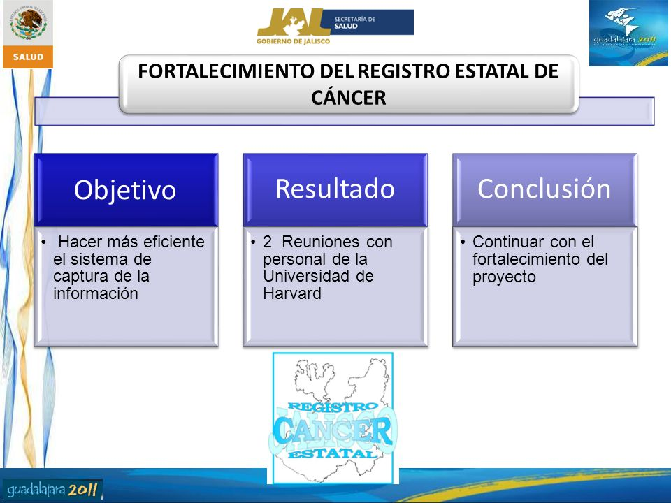 FORTALECIMIENTO DEL REGISTRO ESTATAL DE CÁNCER