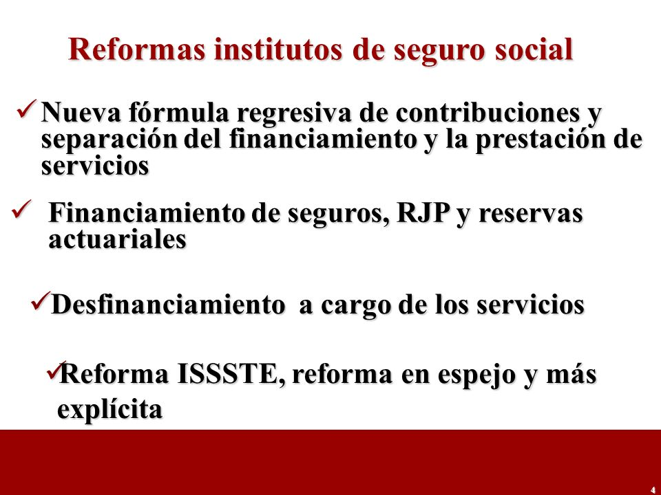 Reformas institutos de seguro social