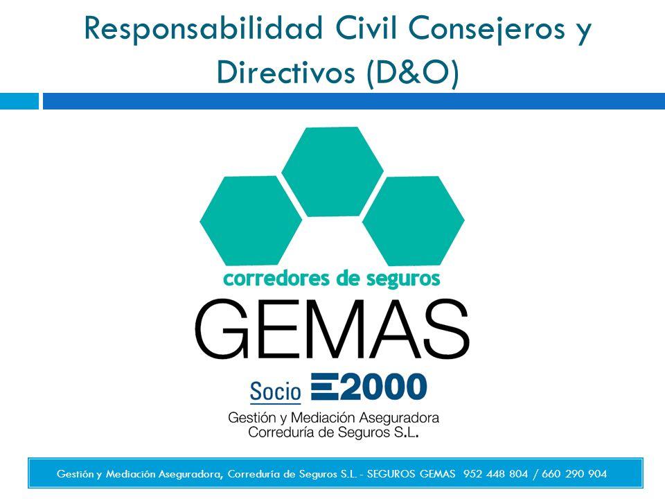 Responsabilidad Civil Consejeros y Directivos (D&O)