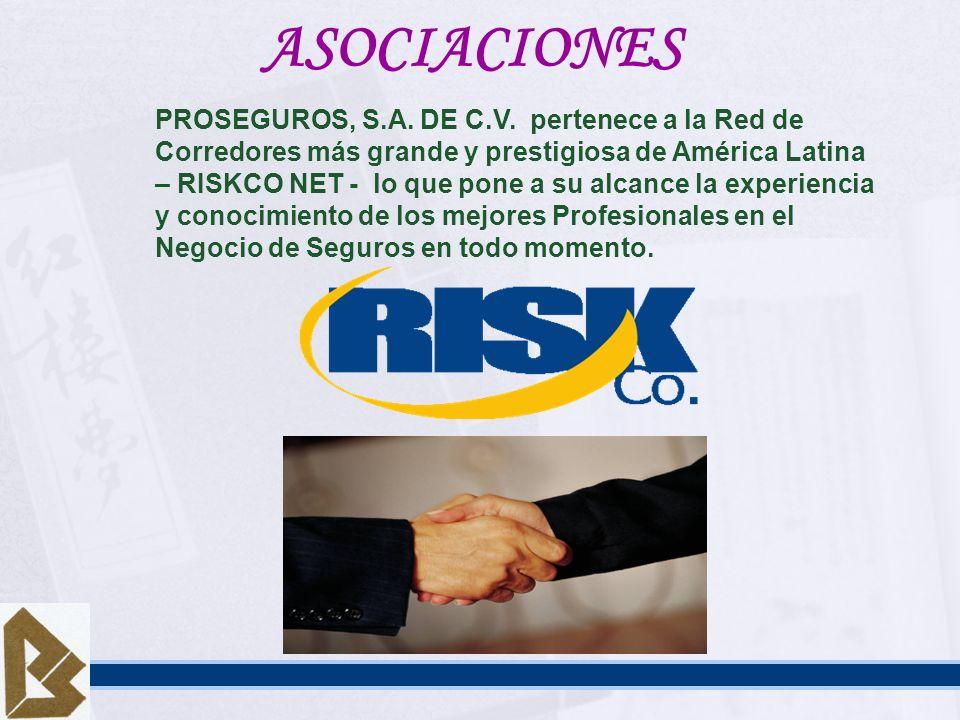 ASOCIACIONES PROSEGUROS, S.A. DE C.V. pertenece a la Red de