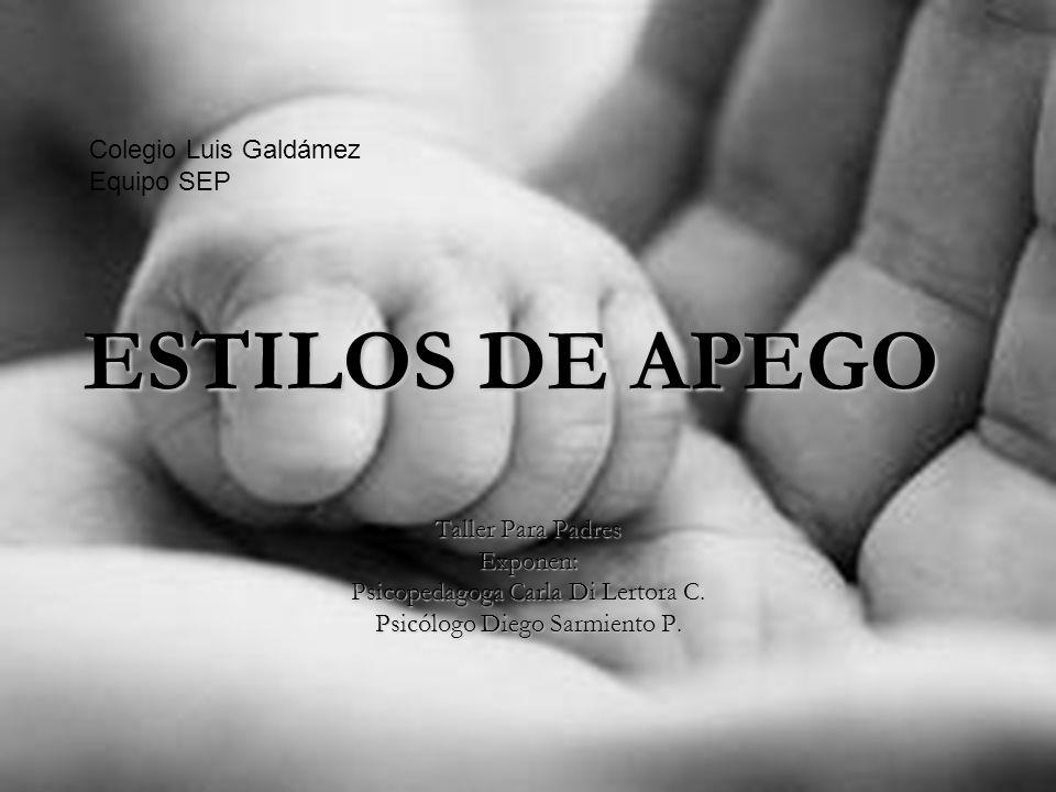 ESTILOS DE APEGO Colegio Luis Galdámez Equipo SEP Taller Para Padres