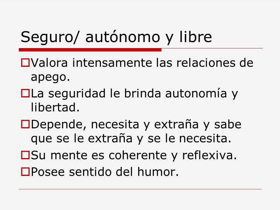 Seguro/ autónomo y libre