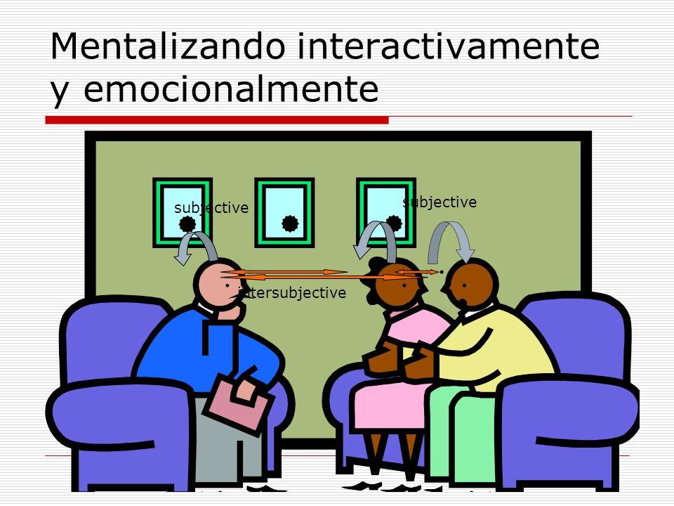 Mentalizando interactivamente y emocionalmente