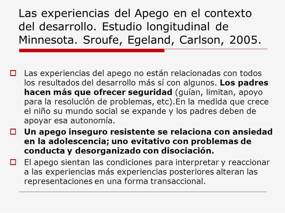 Las experiencias del Apego en el contexto del desarrollo