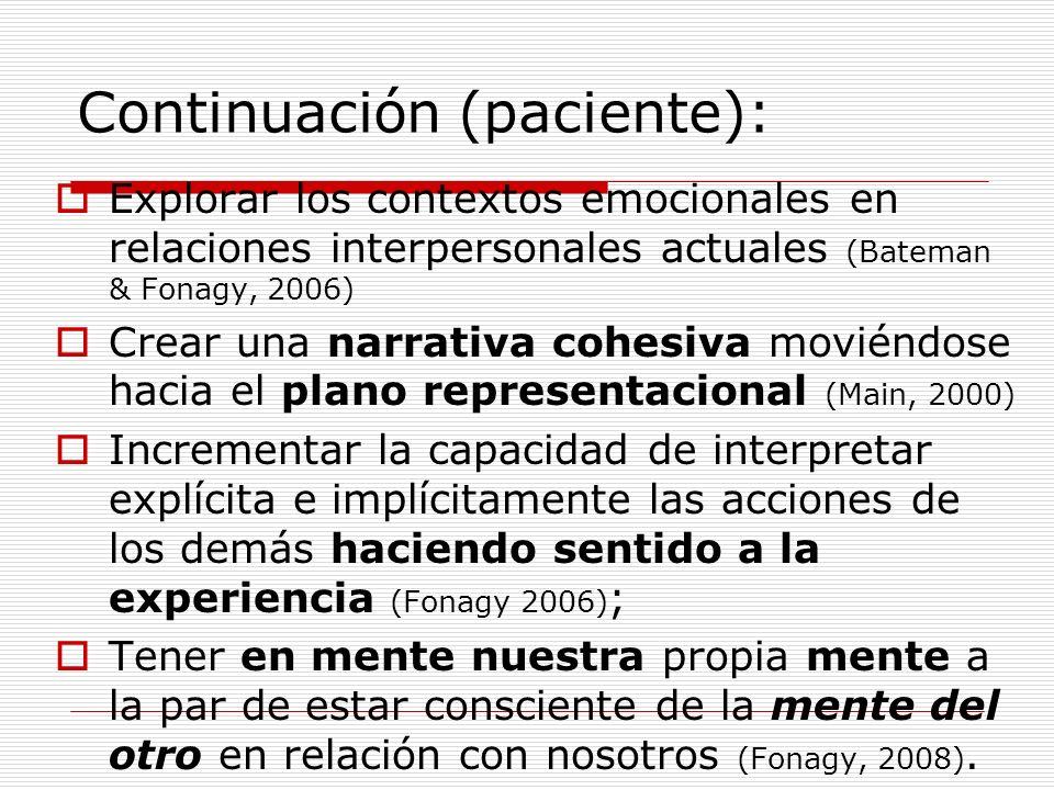 Continuación (paciente):