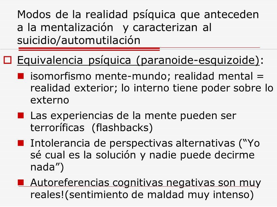 Equivalencia psíquica (paranoide-esquizoide):