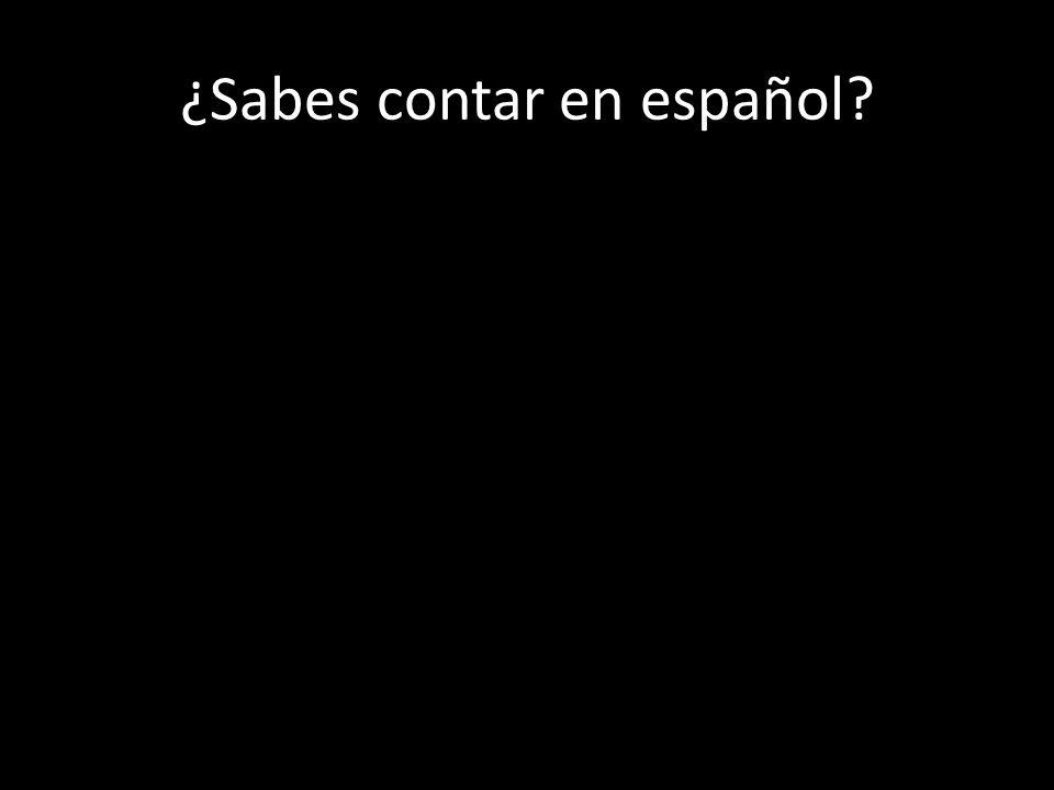 ¿Sabes contar en español