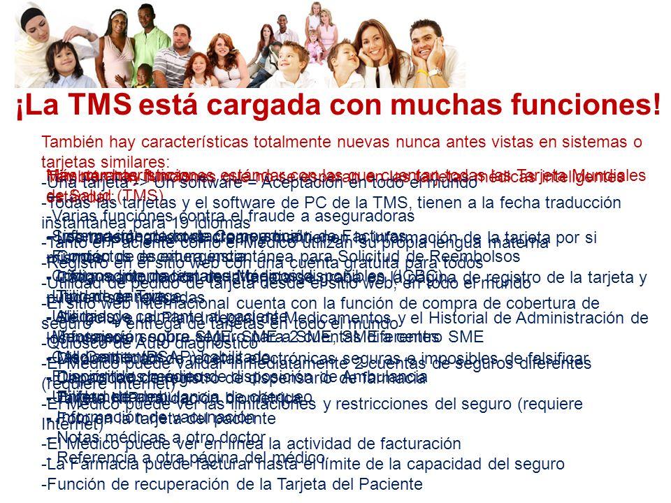 ¡La TMS está cargada con muchas funciones!