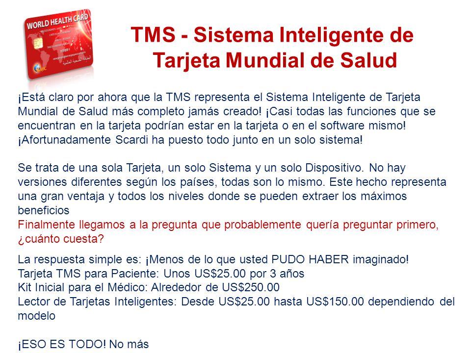 TMS - Sistema Inteligente de Tarjeta Mundial de Salud