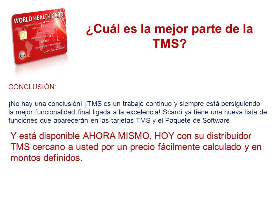 ¿Cuál es la mejor parte de la TMS