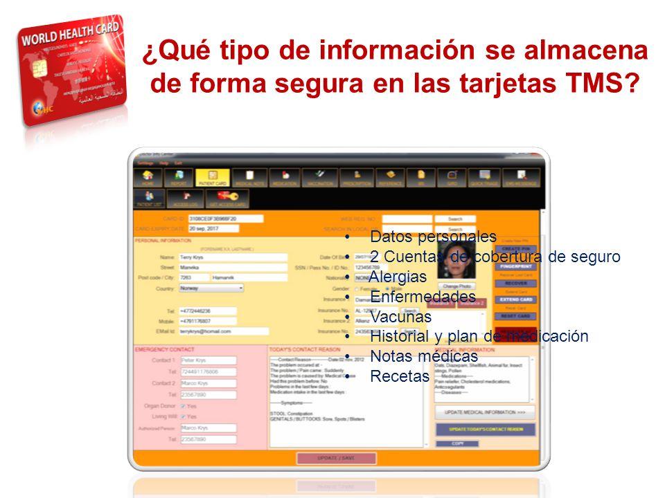 THE SYSTEM ¿Qué tipo de información se almacena