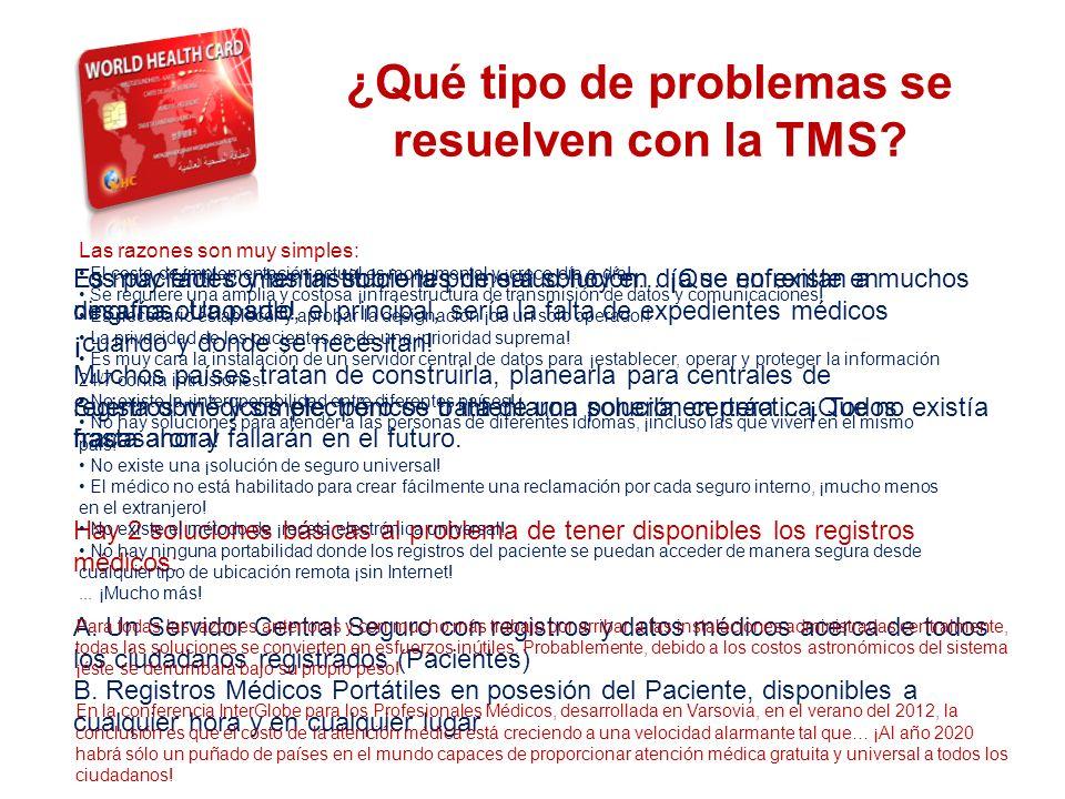 ¿Qué tipo de problemas se resuelven con la TMS