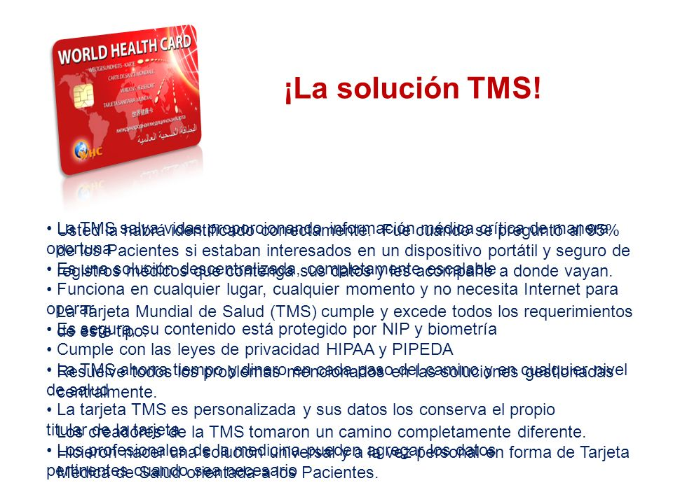 THE SYSTEM ¡La solución TMS!