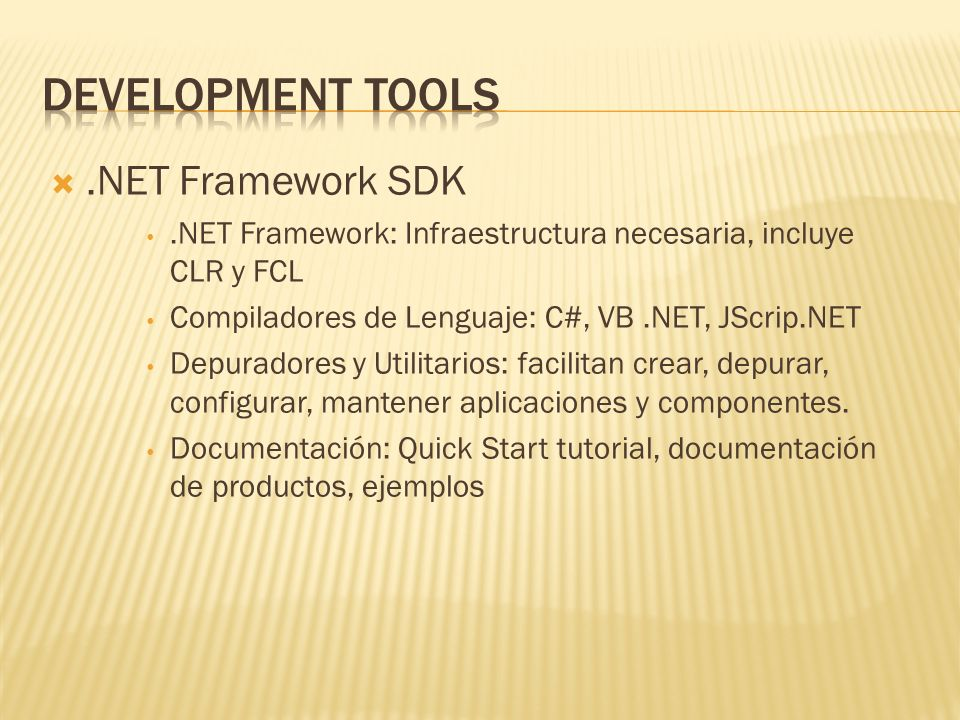 Development Tools .NET Framework SDK