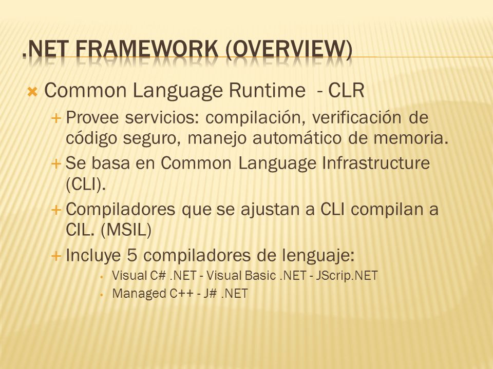 .NET Framework (Overview)