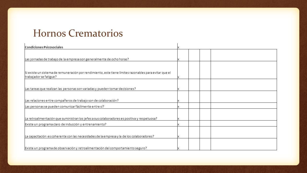 Hornos Crematorios Condiciones Psicosociales x