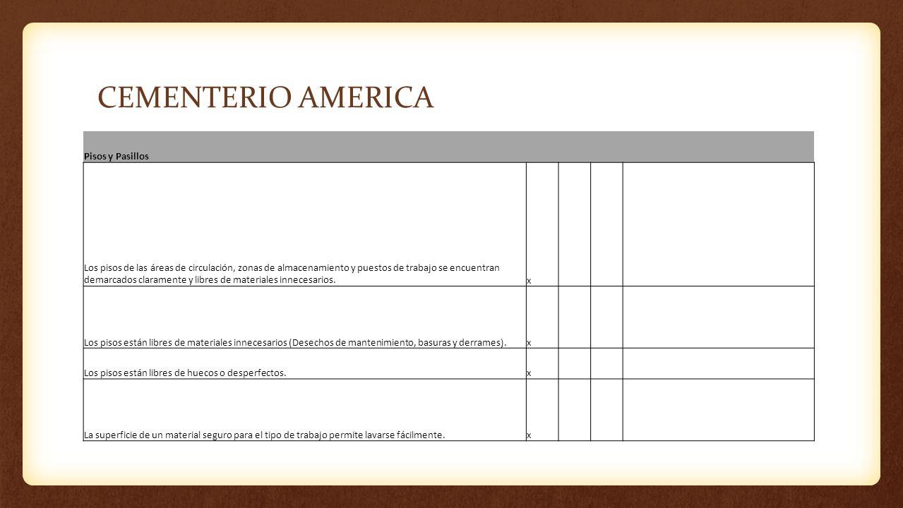 CEMENTERIO AMERICA Pisos y Pasillos