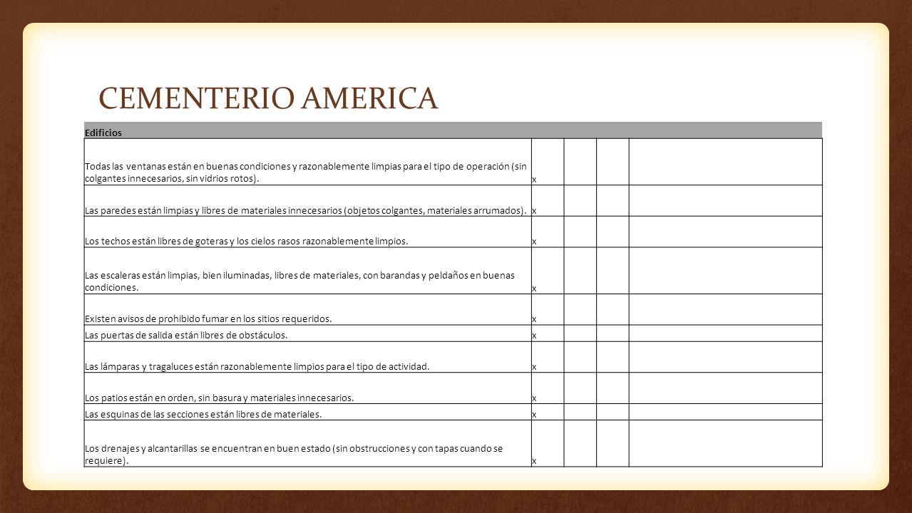 CEMENTERIO AMERICA Edificios