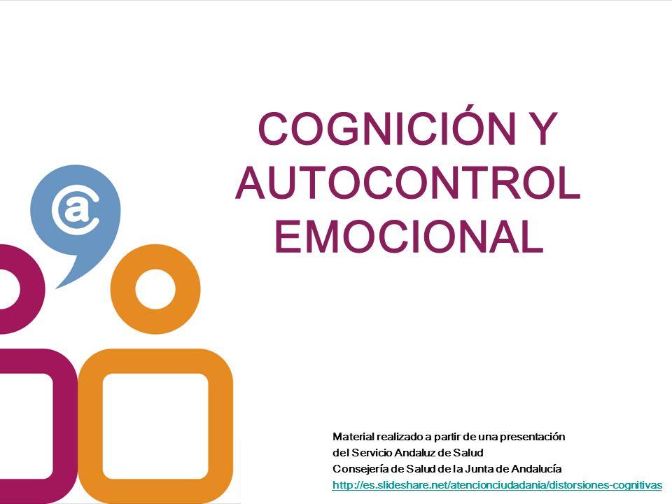 COGNICIÓN Y AUTOCONTROL EMOCIONAL