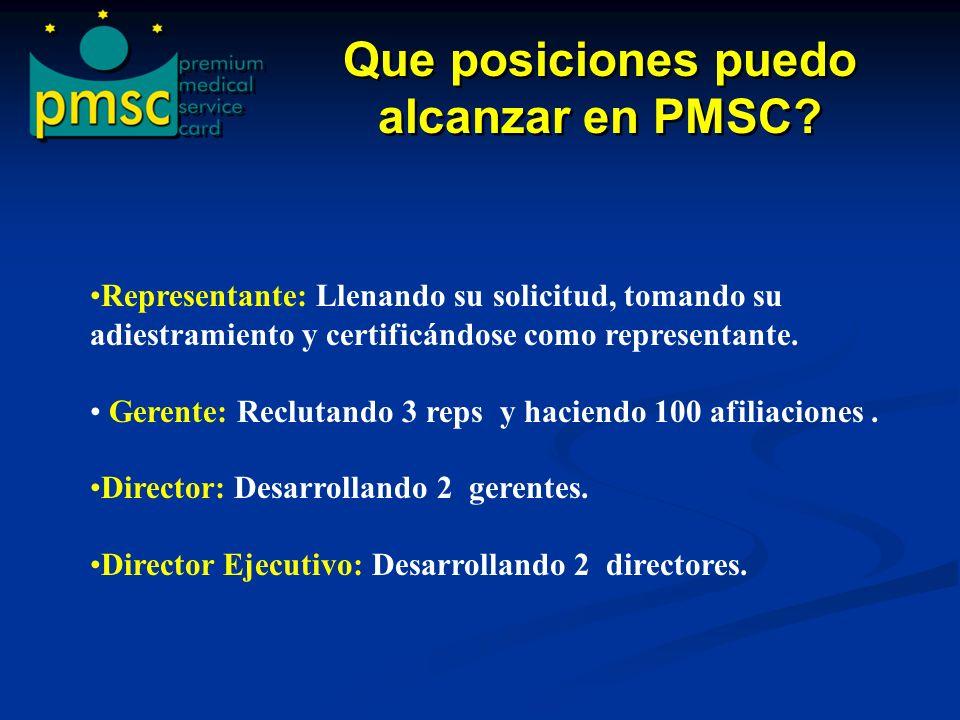 Que posiciones puedo alcanzar en PMSC