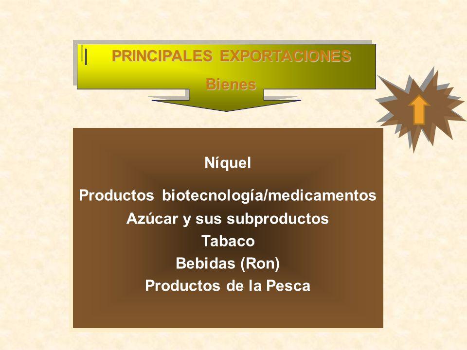 PRINCIPALES EXPORTACIONES Bienes