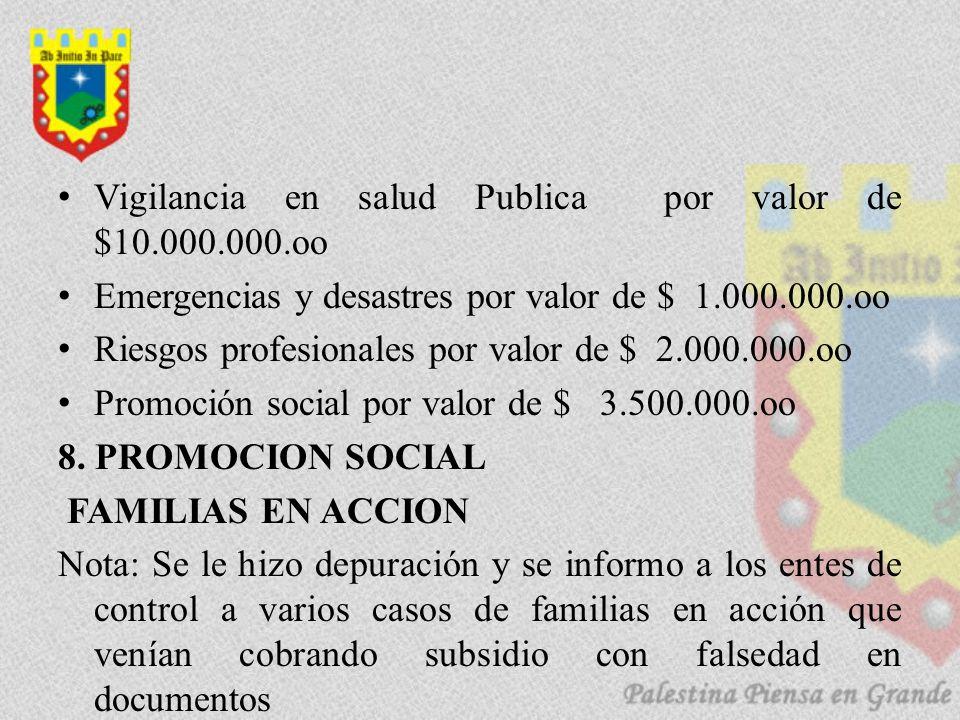 Vigilancia en salud Publica por valor de $10.000.000.oo