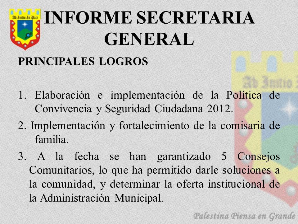 INFORME SECRETARIA GENERAL