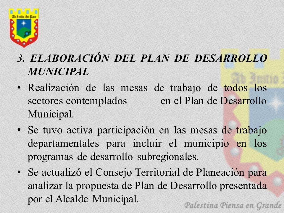 3. ELABORACIÓN DEL PLAN DE DESARROLLO MUNICIPAL