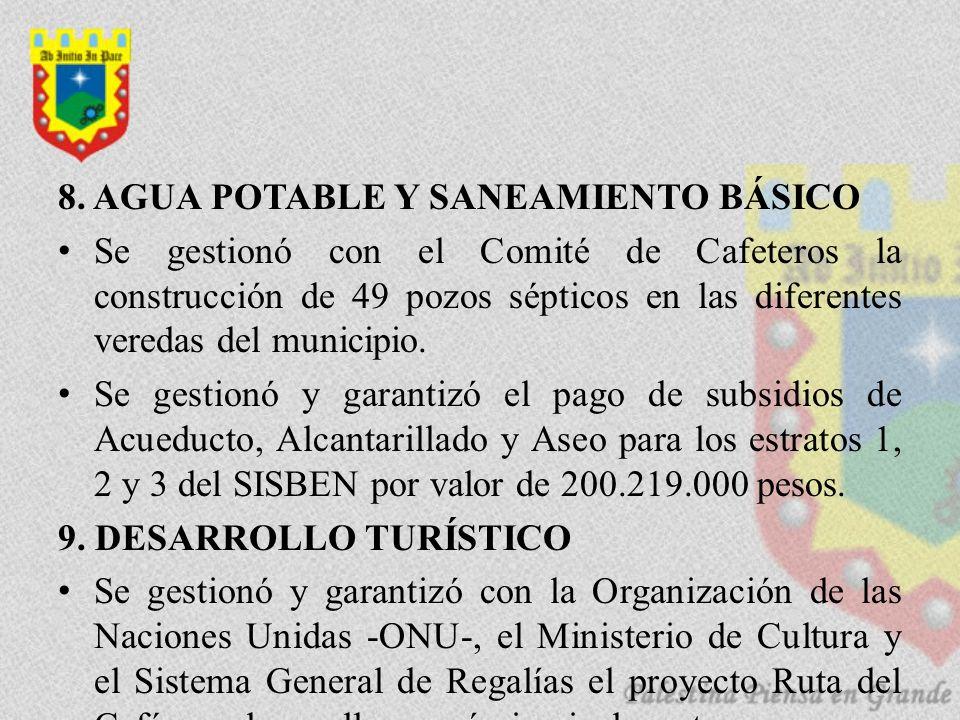 8. AGUA POTABLE Y SANEAMIENTO BÁSICO