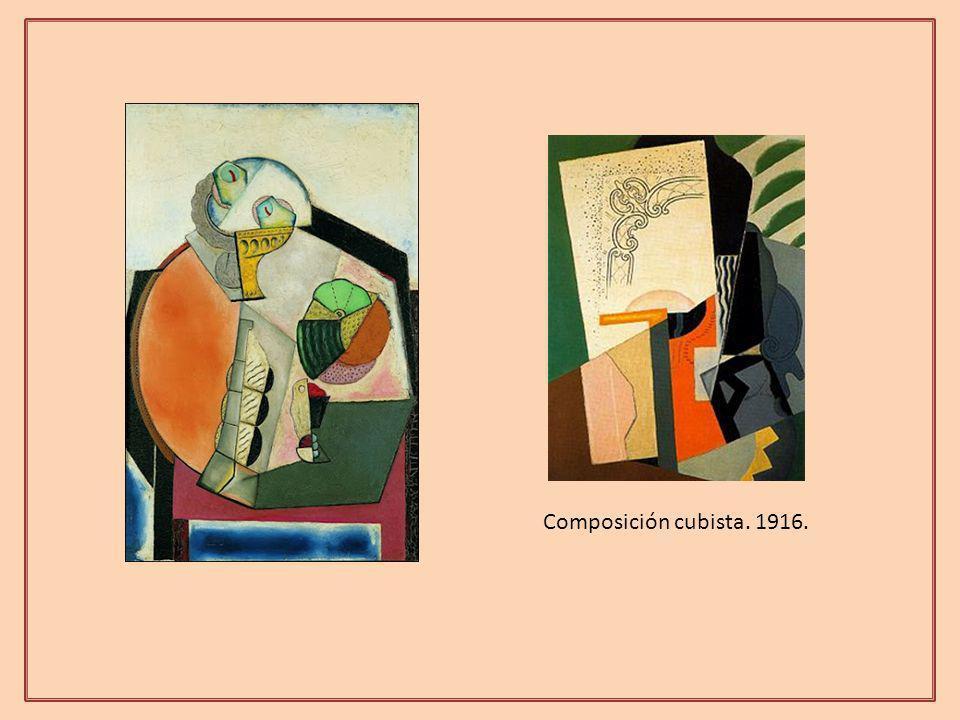 Composición cubista. 1916.