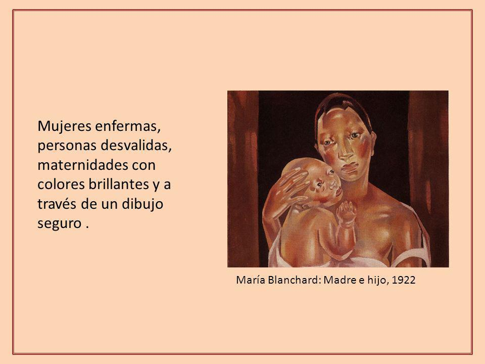 Mujeres enfermas, personas desvalidas, maternidades con colores brillantes y a través de un dibujo seguro .
