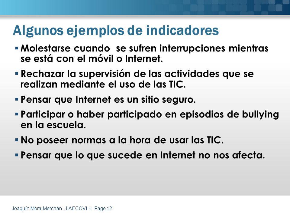 Algunos ejemplos de indicadores