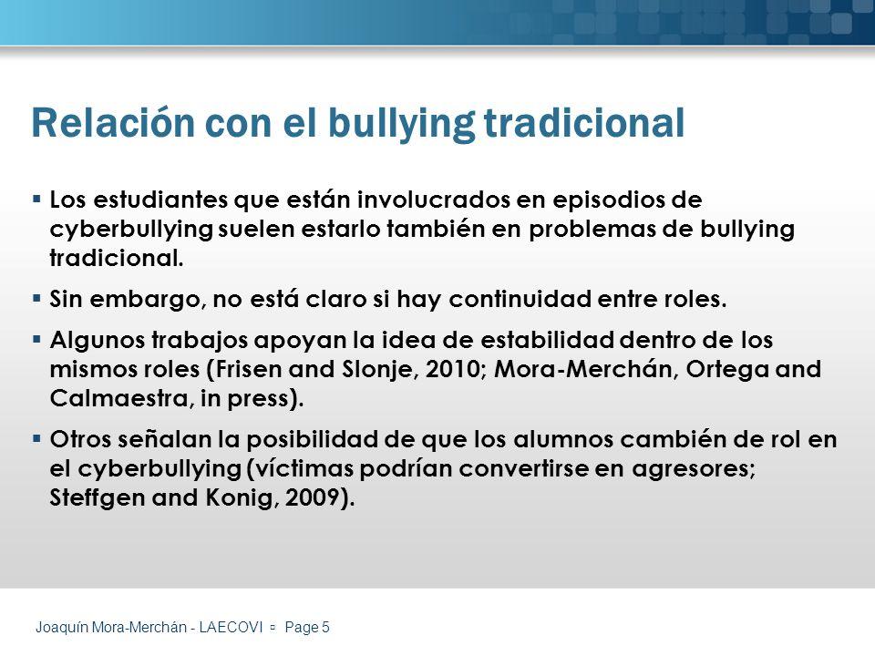 Relación con el bullying tradicional
