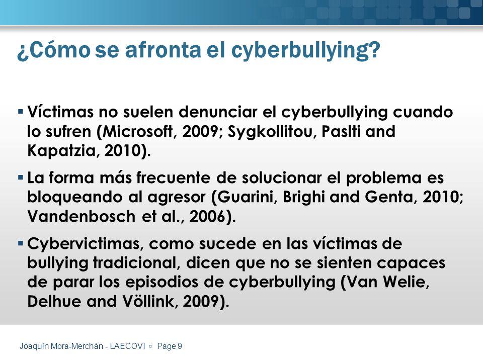 ¿Cómo se afronta el cyberbullying