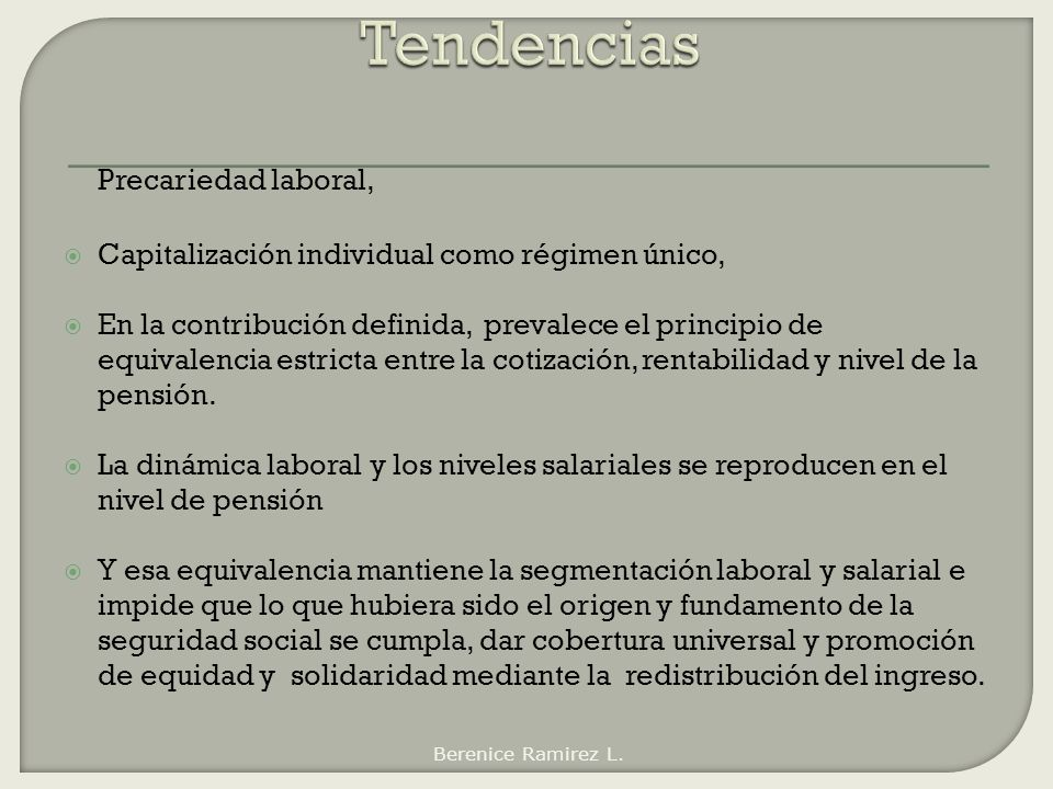 Tendencias Precariedad laboral,