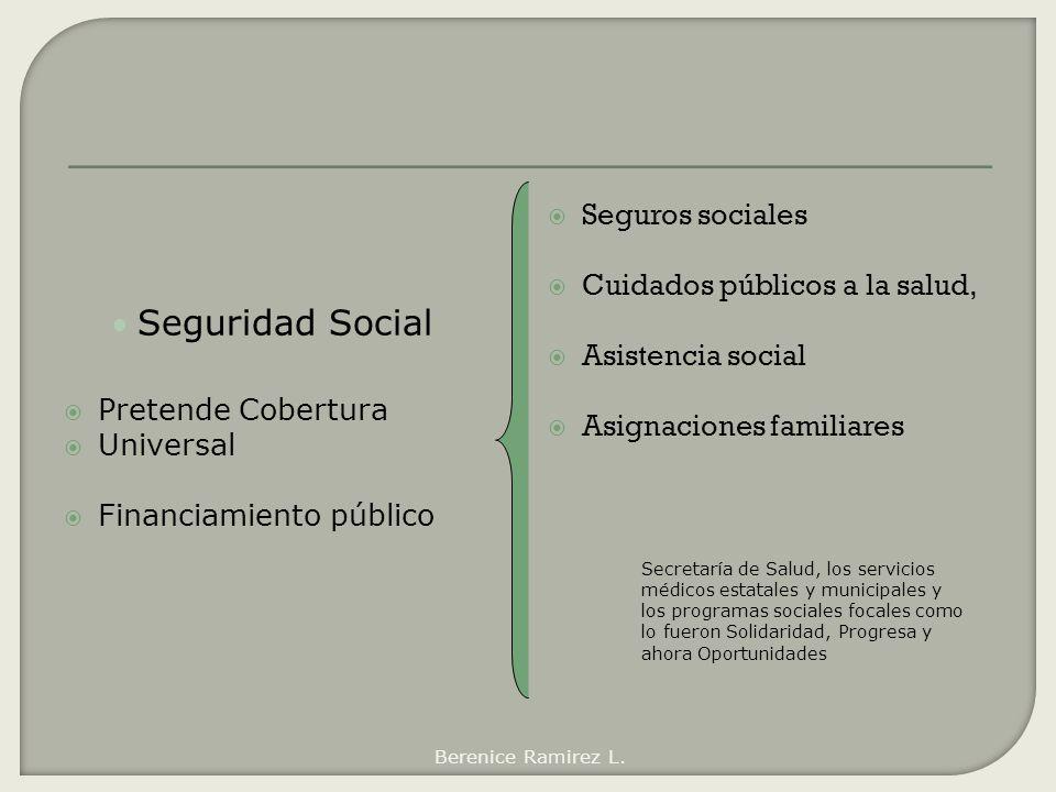 Seguridad Social Seguros sociales Cuidados públicos a la salud,