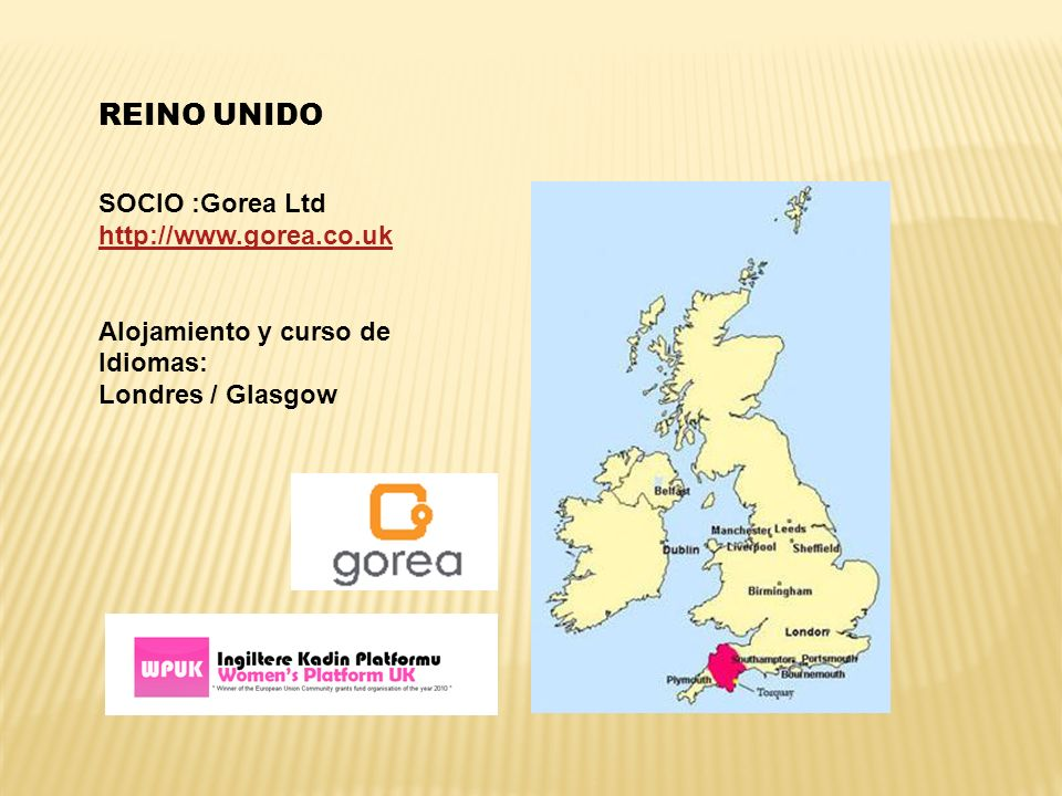 REINO UNIDO SOCIO :Gorea Ltd http://www.gorea.co.uk