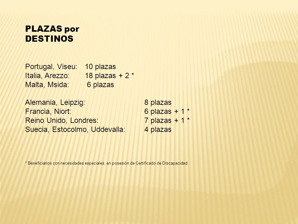 PLAZAS por DESTINOS Portugal, Viseu: 10 plazas