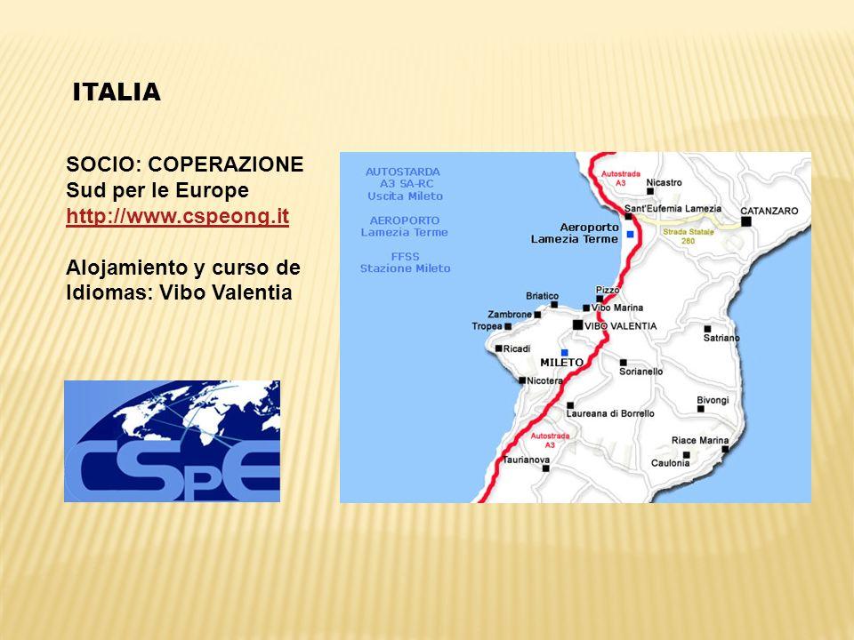 ITALIA SOCIO: COPERAZIONE Sud per le Europe http://www.cspeong.it
