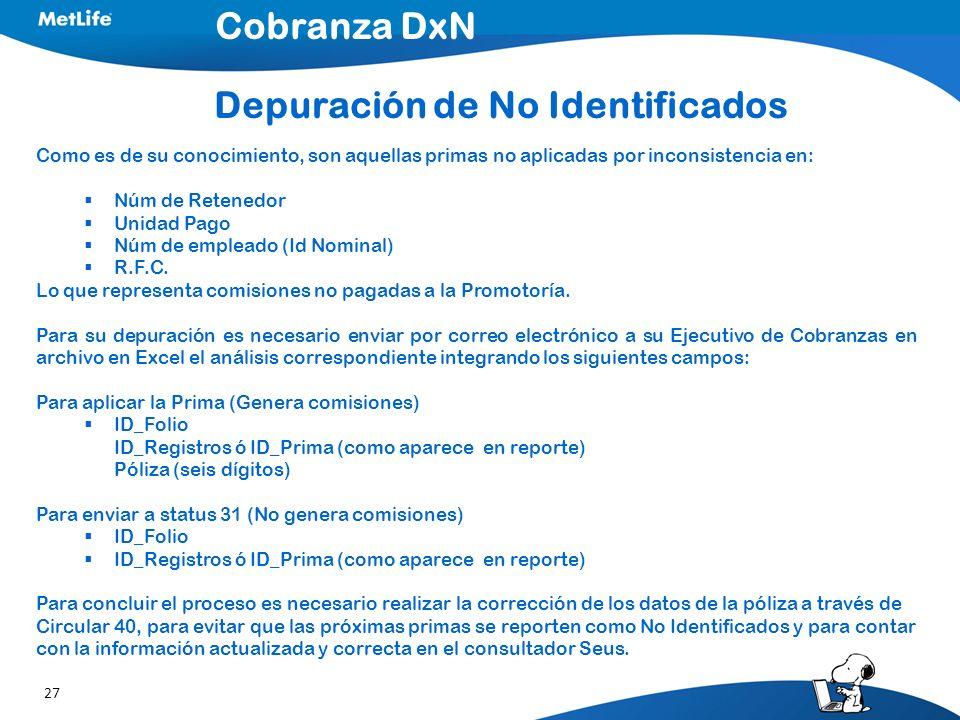 Depuración de No Identificados