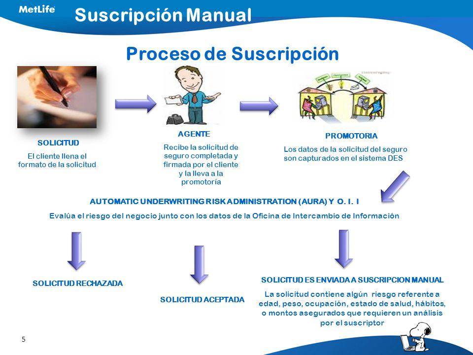 Suscripción Manual Proceso de Suscripción