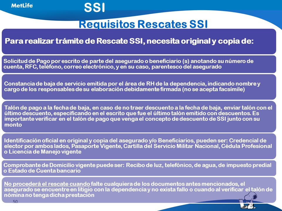 Requisitos Rescates SSI