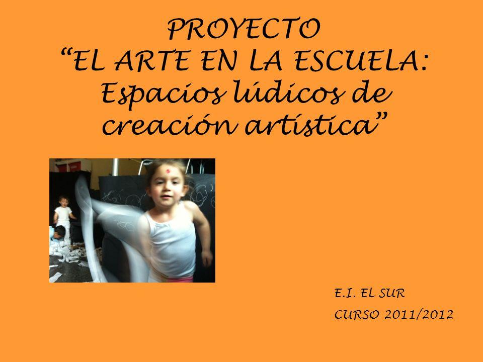 PROYECTO EL ARTE EN LA ESCUELA: Espacios lúdicos de creación artística