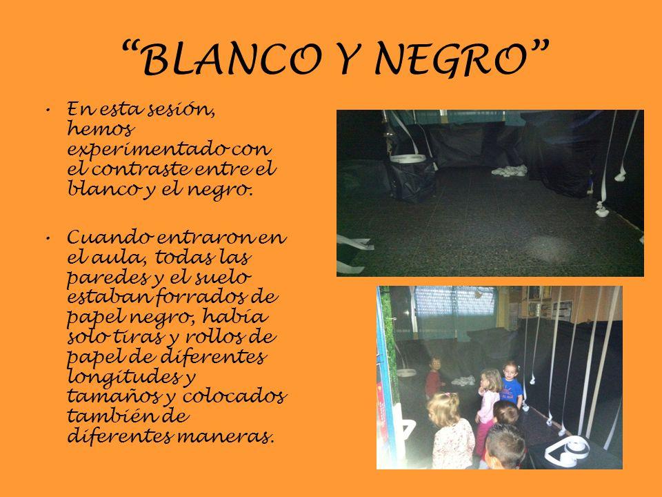 BLANCO Y NEGRO En esta sesión, hemos experimentado con el contraste entre el blanco y el negro.