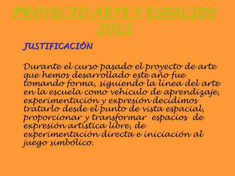 PROYECTO ARTE Y ESPACIOS 2012