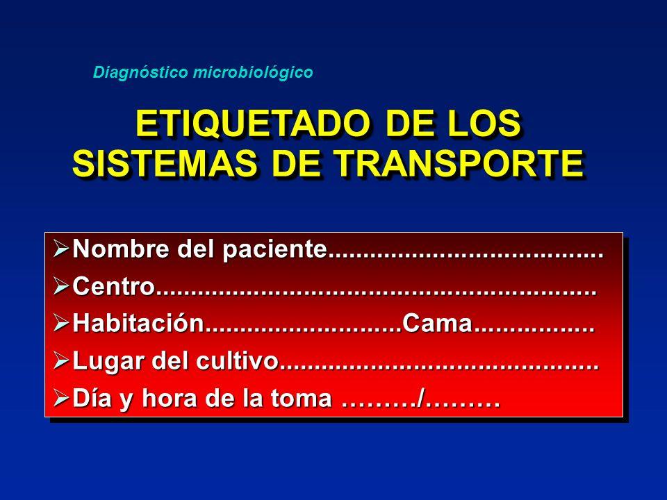 ETIQUETADO DE LOS SISTEMAS DE TRANSPORTE
