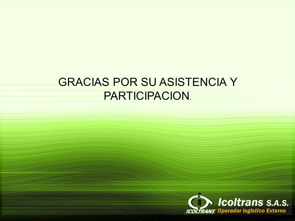 GRACIAS POR SU ASISTENCIA Y PARTICIPACION.