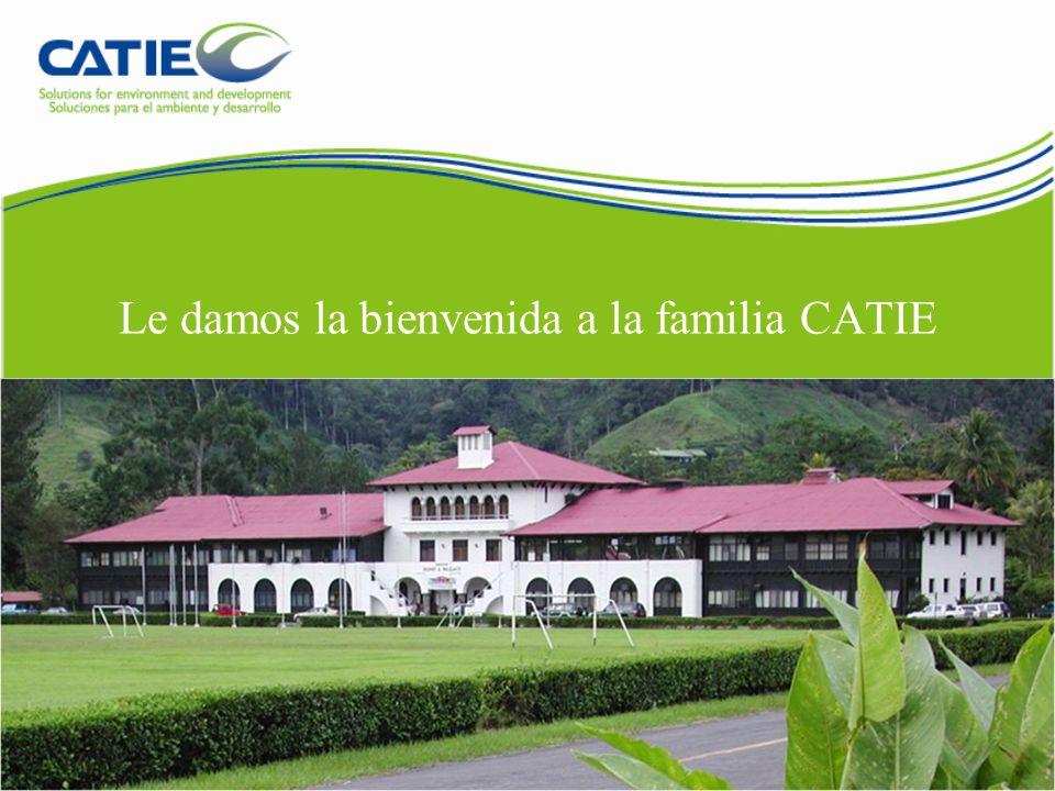Le damos la bienvenida a la familia CATIE