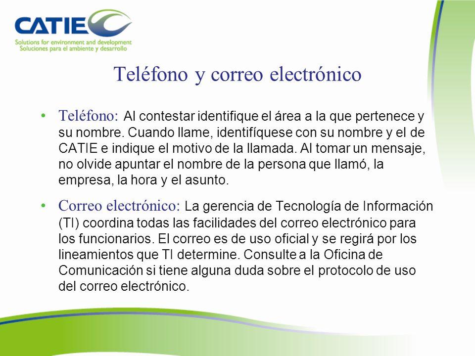 Teléfono y correo electrónico
