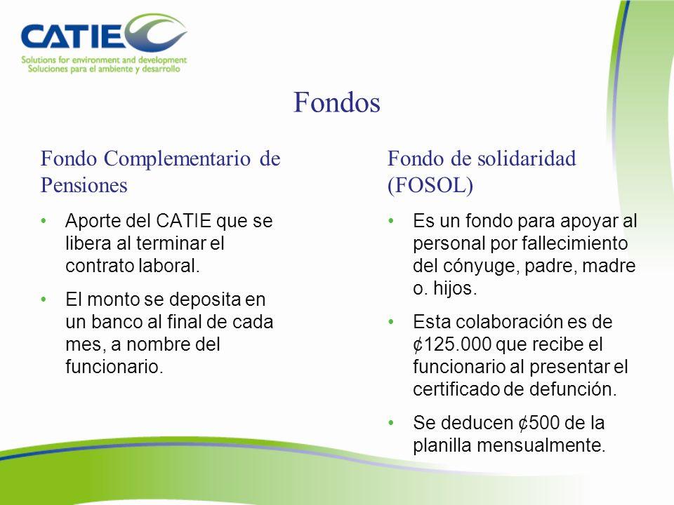 Fondos Fondo Complementario de Pensiones Fondo de solidaridad (FOSOL)